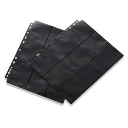18-Pocket Pages - Clear-Black - Side Loading