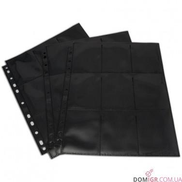 18-Pocket Pages - Black - Top Loading
