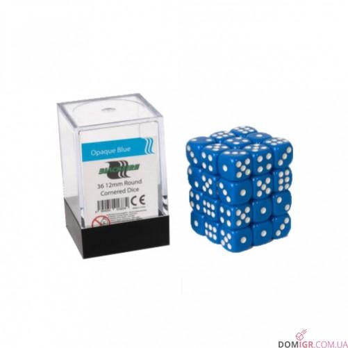 Кубик D6 12мм - Синий, Blue
