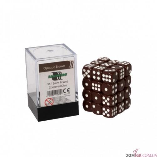 Кубик D6 12мм - Коричневый, Brown