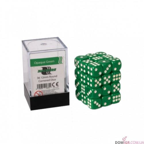 Кубик D6 12мм - Зеленый, Green
