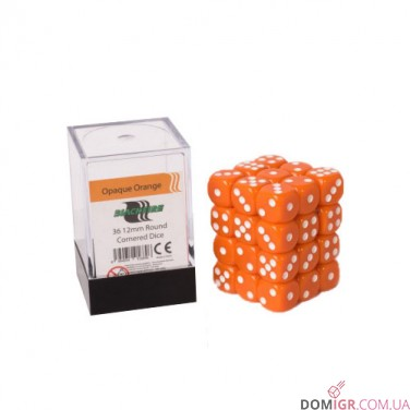 Кубик D6 12мм - Оранжевый, Orange