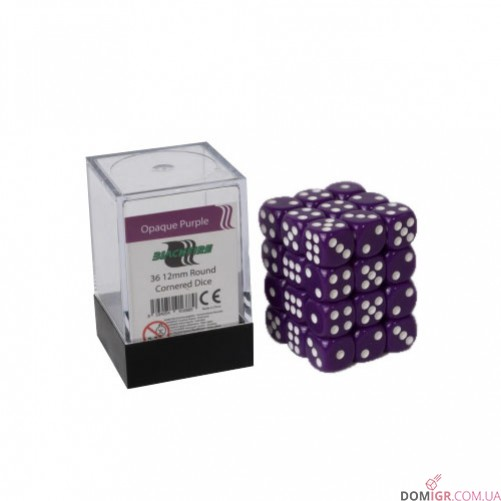 Кубик D6 12мм - Фиолетовый, Purple