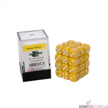 Кубик D6 12мм - Желтый, Yellow