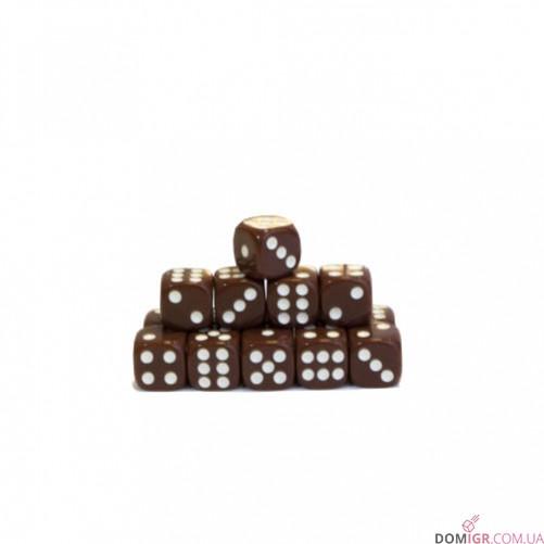 Кубик D6 16мм - Коричневый