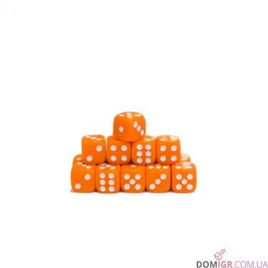 Кубик D6 16мм - Оранжевый