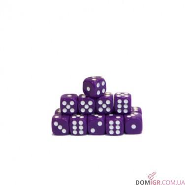 Кубик D6 16мм - Фиолетовый