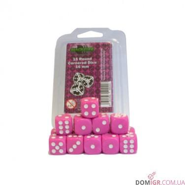 Кубик D6 16мм - Розовый