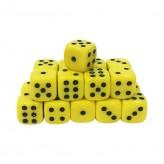 Кубик D6 Желтый - 16мм