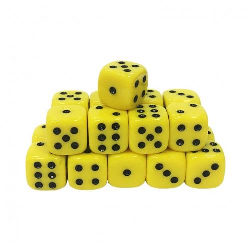 Кубик D6 16мм - Желтый