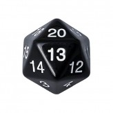 Dice - D20 Countdown Die 55 mm - Black