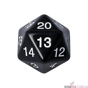 Dice - D20 Countdown Die 55 mm - Black