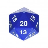 Dice - D20 Countdown Die 55 mm - Blue
