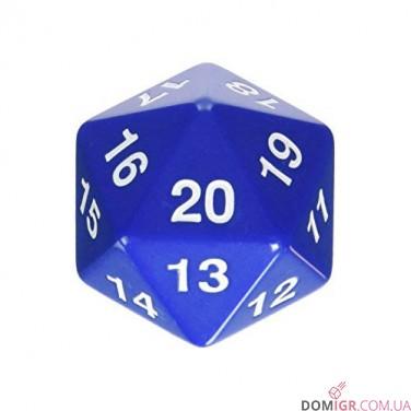 Dice - D20 Countdown Die 55 mm - Blue