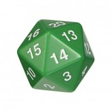 Dice - D20 Countdown Die 55 mm - Green
