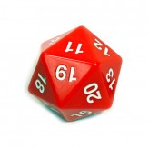 Dice - D20 Countdown Die 55 mm - Red