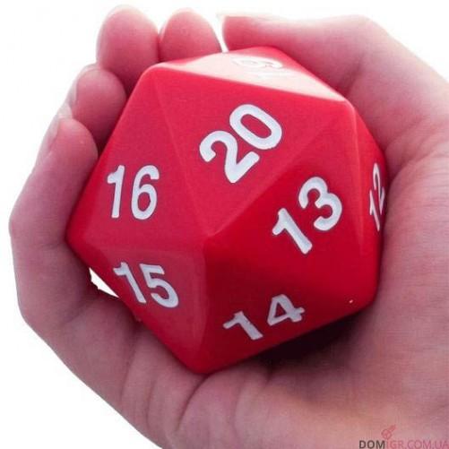 Dice - D20 Countdown Die 55 mm - Red