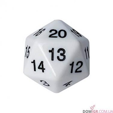 Dice - D20 Countdown Die 55 mm - White