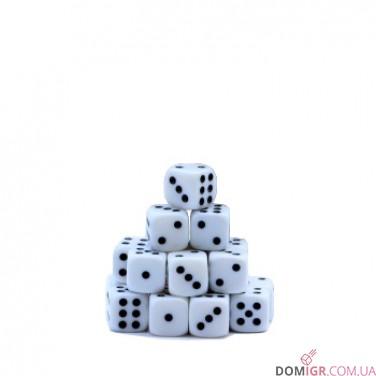 Кубик D6 16мм - Белый