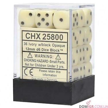 Кубик D6 12мм - в ассортименте