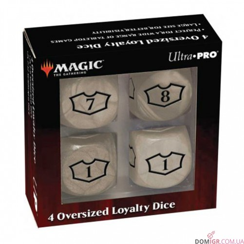 Four Oversized Loyalty Dice - Magic: The Gathering