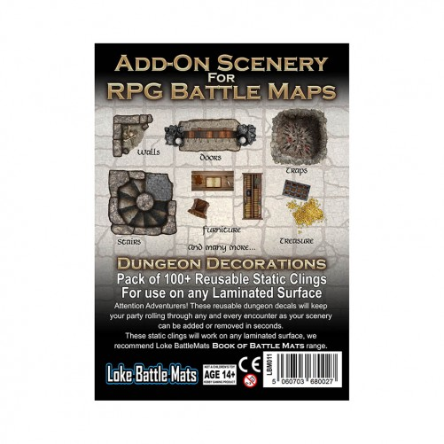 Add-On Scenery for RPG Battle Mats Dungeon Decorations