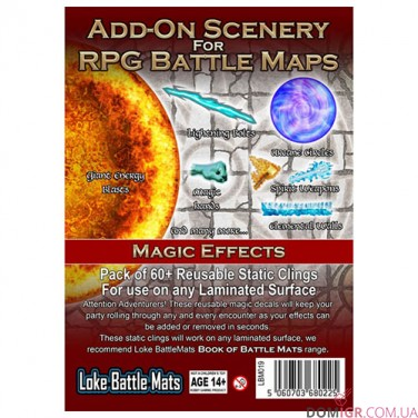 Add-On Scenery for RPG Battle Mats Magic Effects