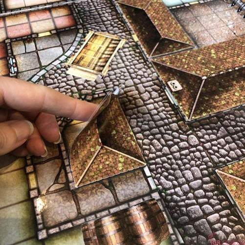 Add-On Scenery for RPG Battle Mats Town Trimmings