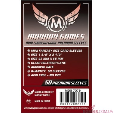 Протекторы Mayday Games - 43х65 мм - 50 Pack, Premium