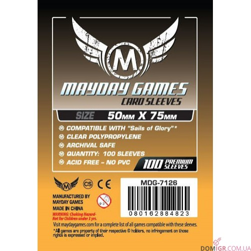 Протекторы Mayday Games - 50х75 мм - Sails of Glory