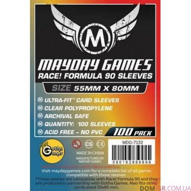 Протекторы Mayday Games - 55х80 мм - Race Formula 90