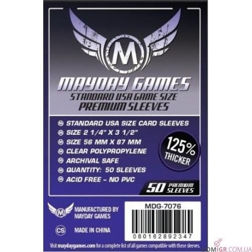 Протекторы Mayday Games - 56х87 мм - 50 Pack, Premium