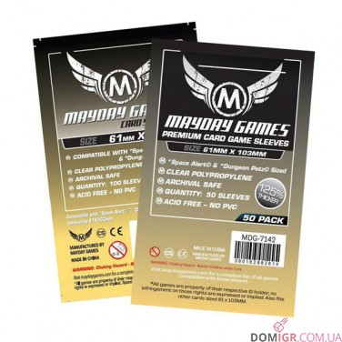Протекторы Mayday Games - 61х103 мм - Space Alert & Dungeon Petz