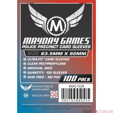 Протекторы Mayday Games - 63,5х92 мм - Police Precinct