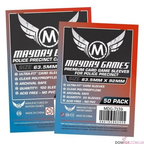 Протекторы Mayday Games - 63,5х92 мм - Police Precinct, Premium