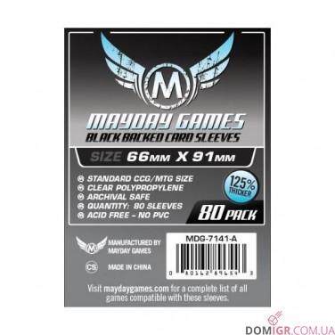 Протекторы Mayday Games - 66x91мм - 80 Черный - CCG/MTG Card