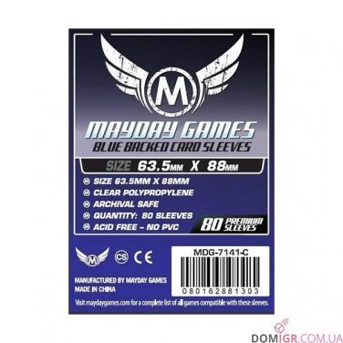 Протекторы Mayday Games - 66x91мм - 80 Синий - CCG/MTG Card