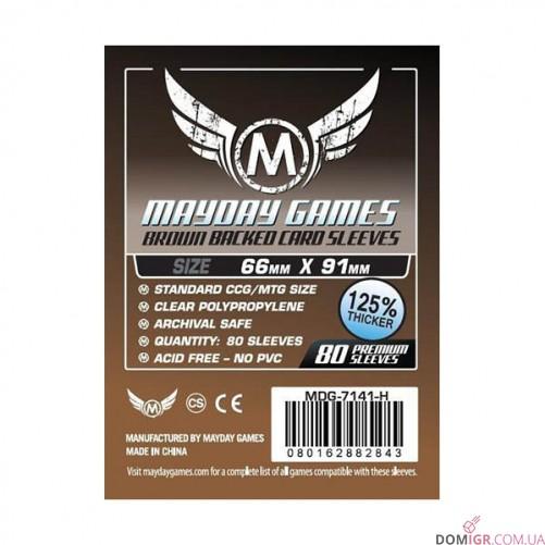 Протекторы Mayday Games - 66x91мм - 80 Коричневый - CCG/MTG Card