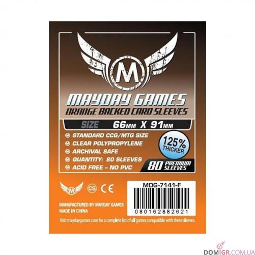 Протекторы Mayday Games - 66x91мм - 80 Оранжевый - CCG/MTG Card