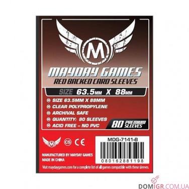 Протекторы Mayday Games - 66x91мм - 80 Красный - CCG/MTG Card