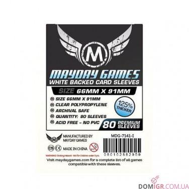 Протекторы Mayday Games - 66x91мм - 80 Белый - CCG/MTG Card