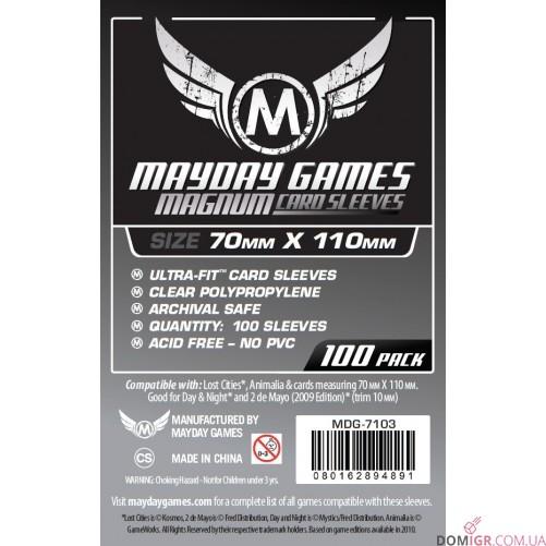 Протекторы Mayday Games - 70х110 мм - Затерянные города
