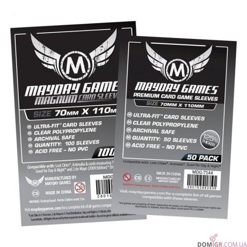 Протекторы Mayday Games - 70х110 мм - Lost Cities, Premium