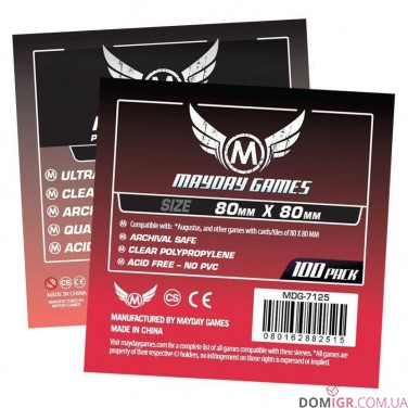 Протекторы Mayday Games - 80х80 мм - Premium