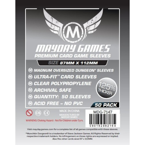 Протекторы Mayday Games - 87х112 мм - Munchkin Dungeon, Premium