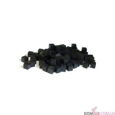 Кубик деревянный 10 мм - 10 шт, черный