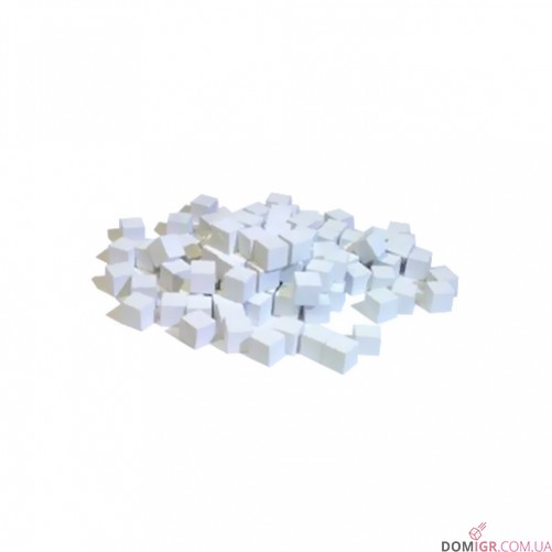 Кубик деревянный 8 мм - 10 шт, белый