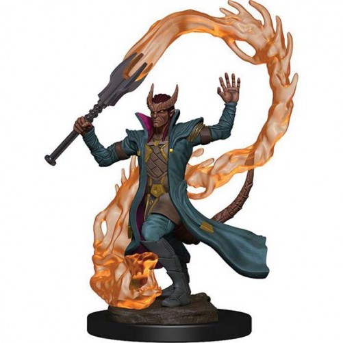 Male Tiefling Sorcerer - D&D Icons of the Realms Premium Figures