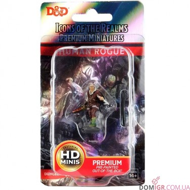 Male Human Rogue - D&D Icons of the Realms Premium Figures