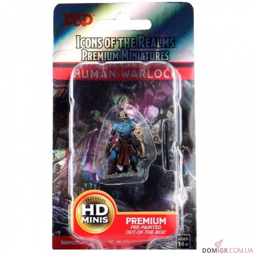 Male Human Warlock - D&D Icons of the Realms Premium Figures